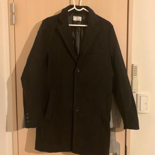 ユニクロ(UNIQLO)のUNIQLO コート 黒 Sサイズ(トレンチコート)