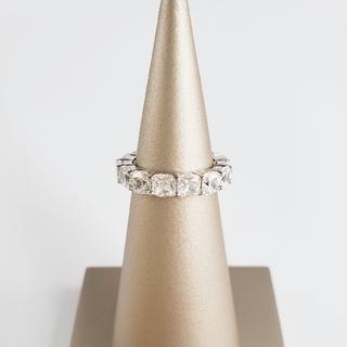 ドゥロワー(Drawer)のSONA 合成ダイヤモンド   クッションカット フルエタニティリング  (リング(指輪))