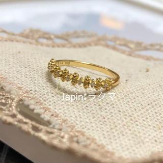 アーカー(AHKAH)のAHKAK K18 ダイヤモンド リング(リング(指輪))