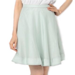 ティティアンドコー(titty&co)のシアーフレアスカート titty&Co. ライトグリーン(ひざ丈スカート)