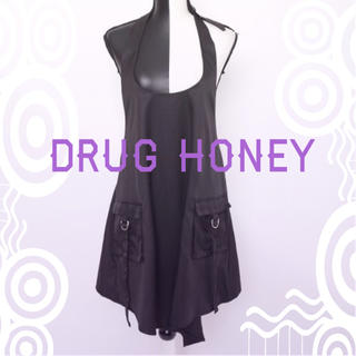 FUNKY FRUIT - 【DrugHoney】ホルターネックエプロン風ワンピース