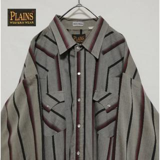 ラングラー(Wrangler)のPLAINS ビックシルエット 2XL マルチストライプ ウエスタンシャツ(シャツ)