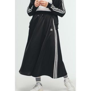 アディダス(adidas)の16日まで限定 adidas originals サテンロングスカート Mサイズ(ロングスカート)