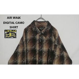 エアウォーク(AIRWALK)の90年代 AIRWALK デジタルカモ XL コットンシャツ(シャツ)