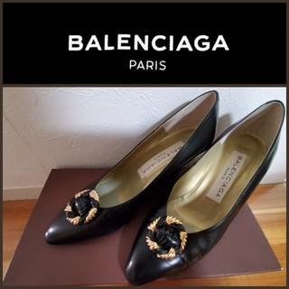 バレンシアガ(Balenciaga)の美品✩BALENCIAGA バレンシアガ ゴールド×黒 ハイヒール ほぼ未使用 (ハイヒール/パンプス)