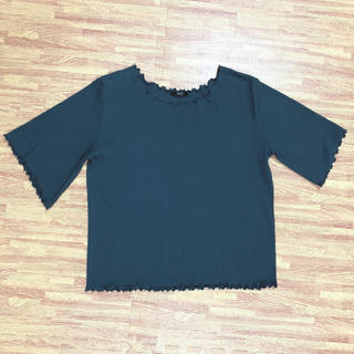 3L ❁ 大きいサイズ 袖裾メロウ リブカットソー Re-j 春秋 トップス (カットソー(半袖/袖なし))