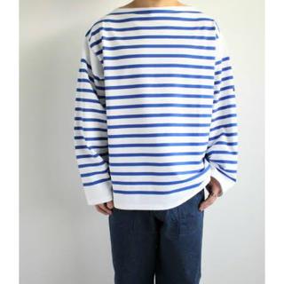 コモリ(COMOLI)の19AW OUTIL TRICOT AAST [WHITE / BLUE](Tシャツ/カットソー(七分/長袖))