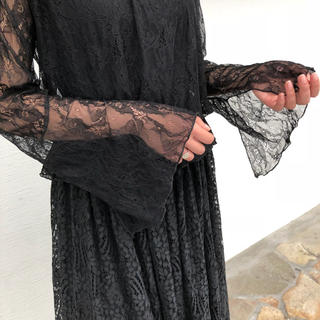 Ungrid - Ungrid ハイネックレースブラウス 刺繍 ブラック 二次会 ハロウィン