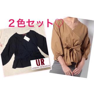 ✴︎新品✴︎ベージュとネイビー 2色セット アーバンリサーチ ブラウス シャツ