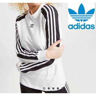adidas - アディダスオリジナルス Tシャツ ロンT 3ストライプ