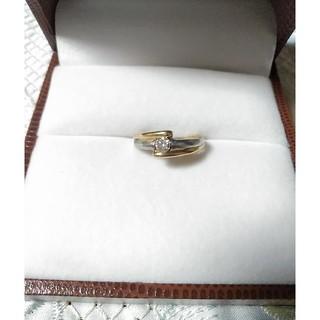 最終価格 コンビリング K18   Pt900 ダイアモンド(リング(指輪))