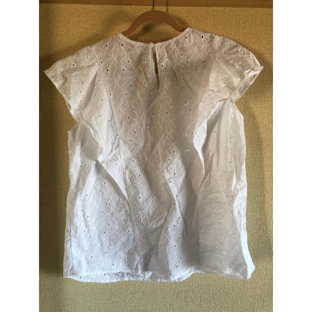 GU(ジーユー)のGUフリルブラウス レディースのトップス(シャツ/ブラウス(半袖/袖なし))の商品写真