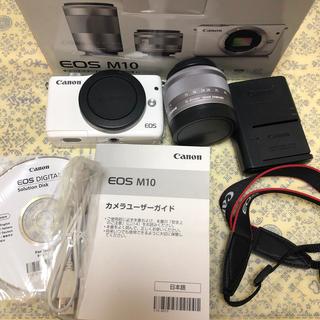 Canon -  Canon EOS M10 レンズキット(ホワイト) EF-M15-45mm