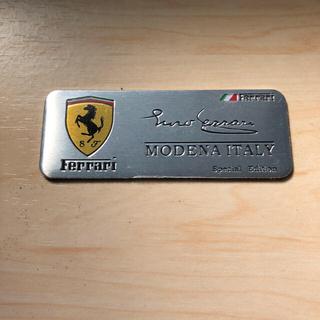 フェラーリ(Ferrari)のフェラーリ 立体アルミ製 ステッカープレート 送料込み(ステッカー)