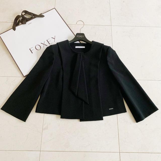 FOXEY(フォクシー)の美品 FOXEY ギャルソンヌ ジャケット レディースのジャケット/アウター(ノーカラージャケット)の商品写真