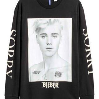 エイチアンドエム(H&M)のJustin Bieber H&M ロングTシャツ(Tシャツ/カットソー(半袖/袖なし))