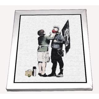 85--バンクシー(banksy)canvas/art canvas/キャンバス(ボードキャンバス)