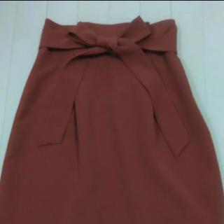 ウエストリボン ハイウェストタイトスカート