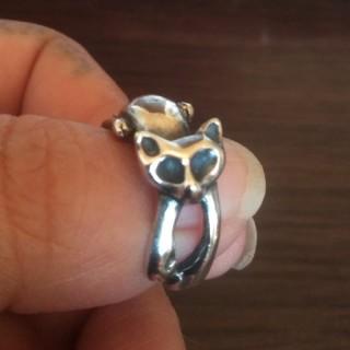 猫のシルバーリング2号(リング(指輪))