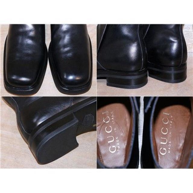 Gucci(グッチ)の定価13万円 GUCCI アンクルブーツ 黒 27,5cm メンズの靴/シューズ(ブーツ)の商品写真