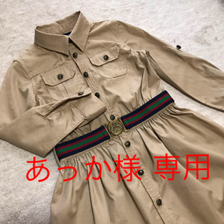 6【ラルフローレン】ワンピース・ベージュ