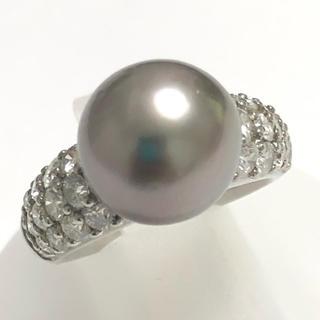 黒蝶 真珠 黒蝶パール ダイヤモンド リング 指輪 特価 キラキラ ダイヤ(リング(指輪))