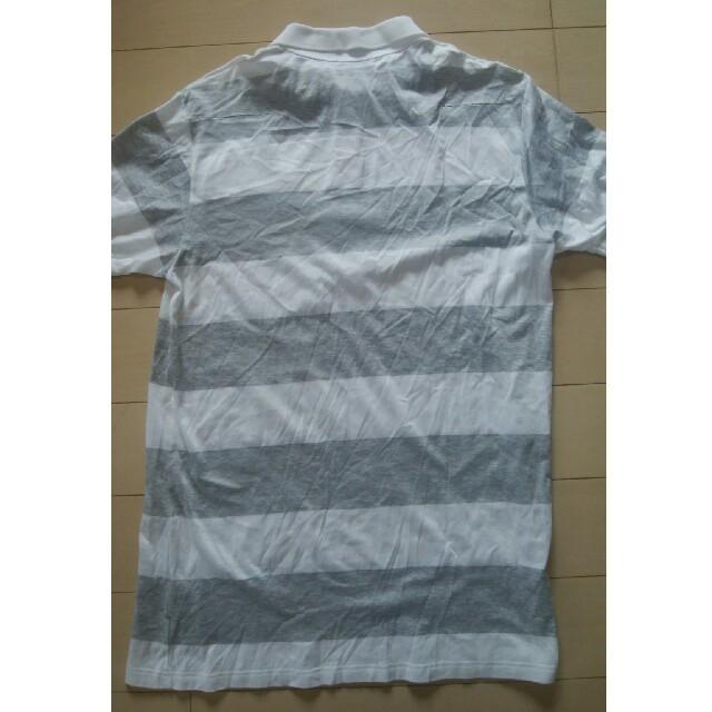 DIOR HOMME(ディオールオム)のDIOR HOMME(ディオールオム) ボーダーポロシャツ 表示サイズ:XS  メンズのトップス(Tシャツ/カットソー(半袖/袖なし))の商品写真