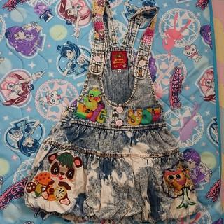 グラグラ(GrandGround)の130 バルーンデニムジャンパースカート☆グラグラ(ワンピース)