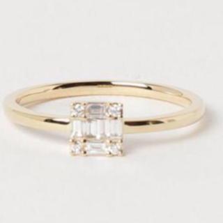 agete - べルシオラ BELLESIORA K18YGダイヤモンドリング