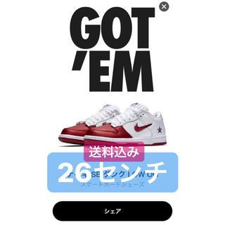 シュプリーム(Supreme)の【26cm】Supreme®/Nike® SB Dunk Low ナイキ(スニーカー)