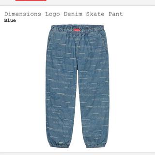 シュプリーム(Supreme)の【S】 Dimensions Logo Denim Skate Pant(ワークパンツ/カーゴパンツ)