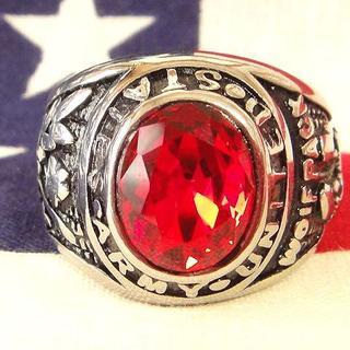 レア★アメリカ陸軍 US ARMY シルバーミリタリーリング指輪(リング(指輪))