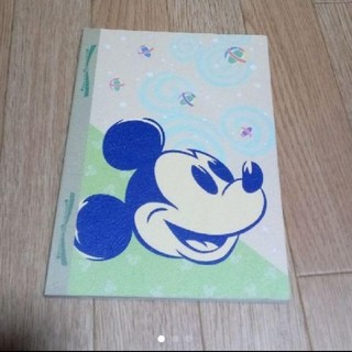 ディズニー(Disney)のミッキー&ミニー和風柄ノート 未使用 ディズニーランド(キャラクターグッズ)