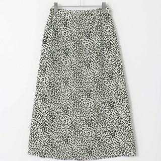 ケービーエフ(KBF)の新品☆KBF☆レオパード柄フレアスカート 定価7452円(ひざ丈スカート)