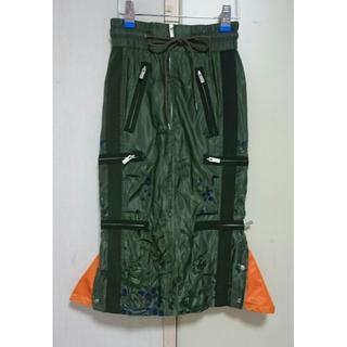 サカイ(sacai)のsacai 2017aw オリエンタル刺繍 ジップ MA-1 スカート (ひざ丈スカート)