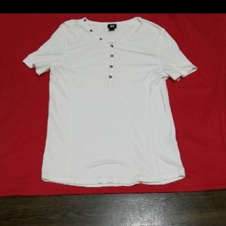 エイチアンドエム(H&M)の白T(Tシャツ/カットソー(半袖/袖なし))