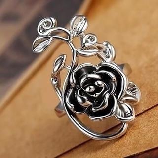 【超人気商品】特価!ゴシックな薔薇のリング 6、7号 or 15、16号相当(リング(指輪))