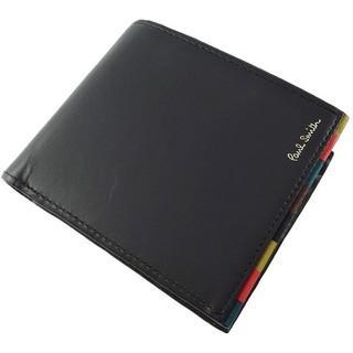 ポールスミス(Paul Smith)の★新品★ポールスミス二つ折り財布紺ブライトストライプ 箱無し(折り財布)