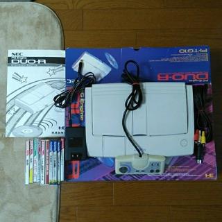 エヌイーシー(NEC)のPCエンジン DUO-R ゲーム機本体ソフト付き(家庭用ゲーム機本体)