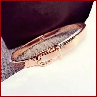 TODAYFUL - ベルト型 ブレスレット ピンクゴールド  ローズゴールド バングル シンプル ✨