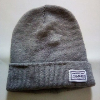 セシルマクビー(CECIL McBEE)のグレーニット帽子(ニット帽/ビーニー)