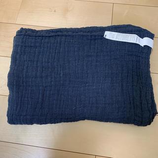 ムジルシリョウヒン(MUJI (無印良品))の無印良品 ガーゼ  ケット シングル 紺(毛布)