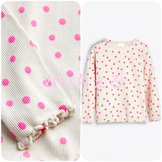 ネクスト(NEXT)の【新品】next ピンク水玉 長袖Tシャツ(ヤンガー)(シャツ/カットソー)