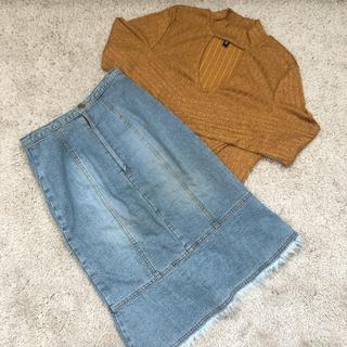 H&M - ピタニットとデニムスカートのセット