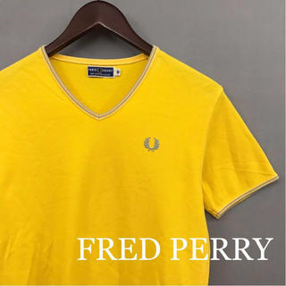 フレッドペリー(FRED PERRY)の【美品 良品】フレッドペリー FRED PERRY 半袖 Vネック 鹿の子(Tシャツ/カットソー(半袖/袖なし))