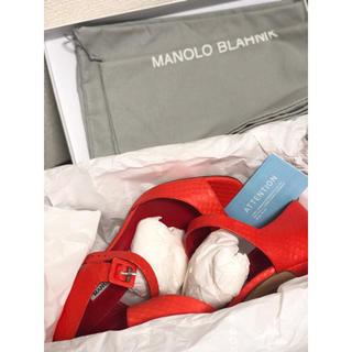 マノロブラニク(MANOLO BLAHNIK)のマノロブラニク 新品未使用 パイソン(ハイヒール/パンプス)
