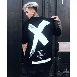 オーバーサイズ  韓国 ストリート系 ゆったり Tシャツ バッテン 3色(Tシャツ/カットソー(半袖/袖なし))