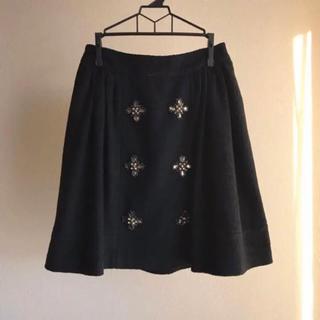 チェスティ(Chesty)のchesty ビジュー ブラック フレアスカート(ひざ丈スカート)