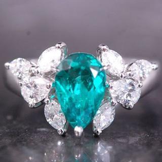 ミキモト(MIKIMOTO)のはるかぜ様専用 ミキモト リング 大粒 エメラルド ダイヤ 指輪 Pt950 (リング(指輪))