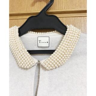 tiara - ティアラ パール襟カーディガン